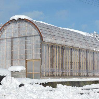 農業用木製ビニールハウス