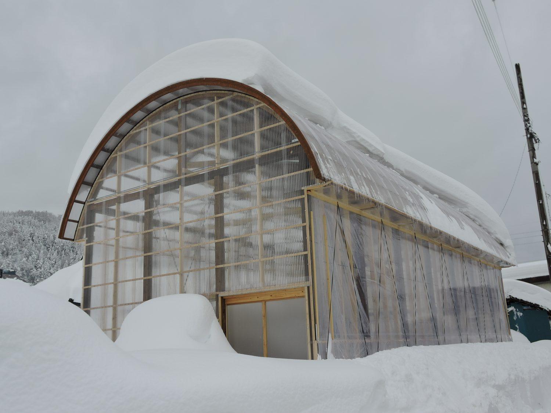 木製農業用ビニールハウス - 雪に強い