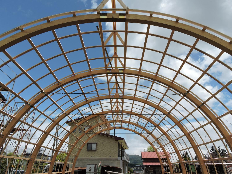 木造農業用ハウス